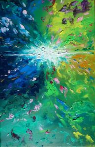 Fusion of a Star,  oil on canvas, 41x27cm, Available