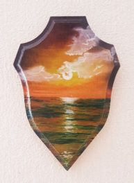 Sunset, oil on wood, Available