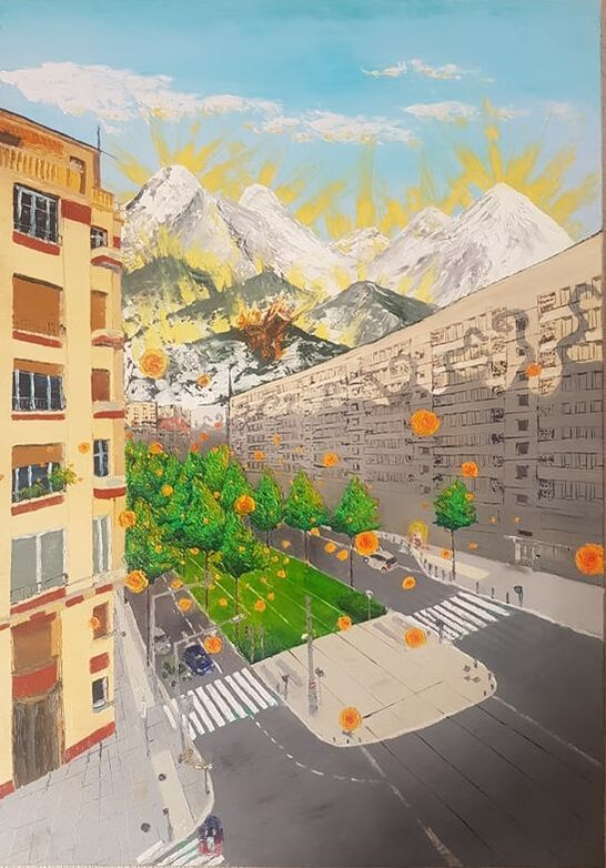 Boulevard Foch/Ferrié, oil on canvas, 92x56cm, Available