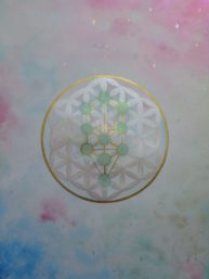 Flower of life with Tree of life watercolor A3 on Arches paper, Available