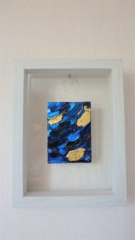 Three gold leaf, oil and 22k 6x9cm gold leaf, available.