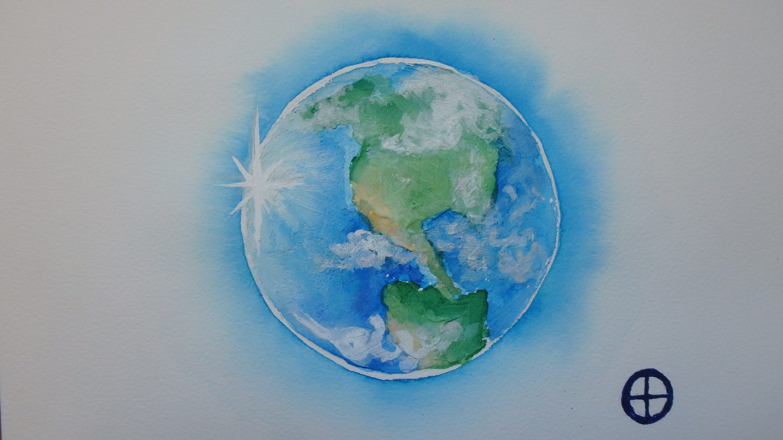 Terre, aquarelle 20x30cm, Vendu