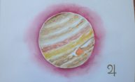 Jupiter, watercolor 20x30cm, available