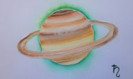 Saturne, watercolor 20x30cm, available