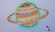 Saturne, aquarelle 20x30cm, disponible