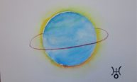 Uranus, watercolor 20x30cm, available