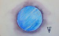 Neptune, aquarelle 20x30cm, disponible